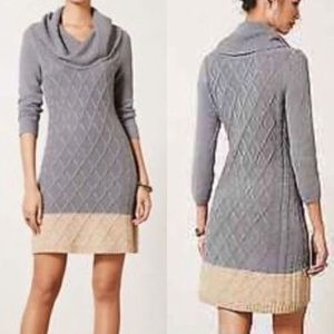 Anthropologie Sparrow Color blocked Sweater Dress.